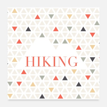 Hiking Color Geo Hiking - Poster
