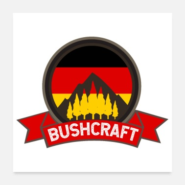 Germanere Bushcraft Germany German Flag Gaveidee - Poster