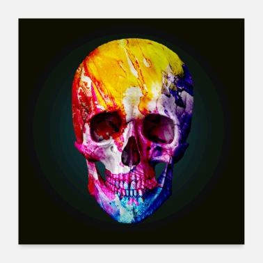 Skull Skull, colorful, skull - Poster
