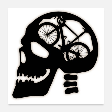 Bmx Skull with bicycle inside - Poster