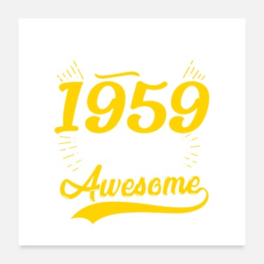60th Birthday Vintage 1959 60th Birthday - Poster