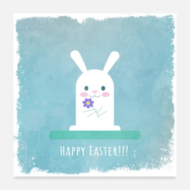 Easter Easter bunny, easter, bunny, bunny happy easter - Poster