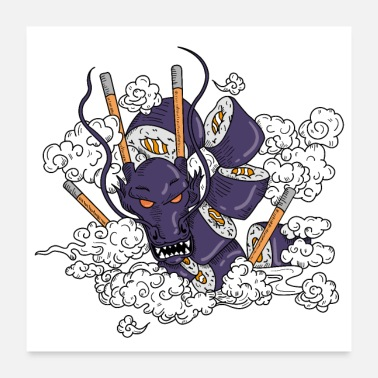 Trend Sushi dragon design - Poster