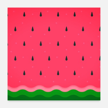 Healthy Watermelon summer fruit Fresh pattern - Poster