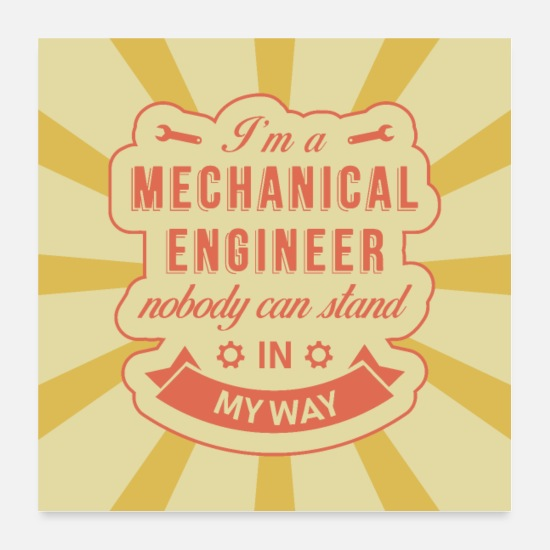 Gift Idea Posters - Mechanical engineer - Posters white