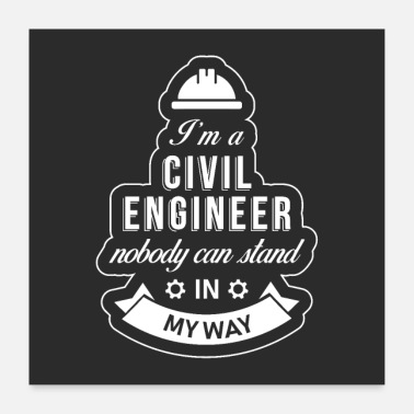 Karriere Civil Engineer Poster - Poster