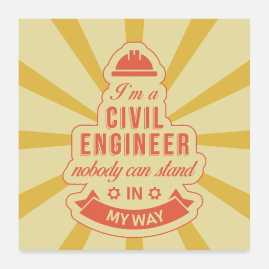 Ingenieur Poster - Civil Engineer Poster - Poster Weiß