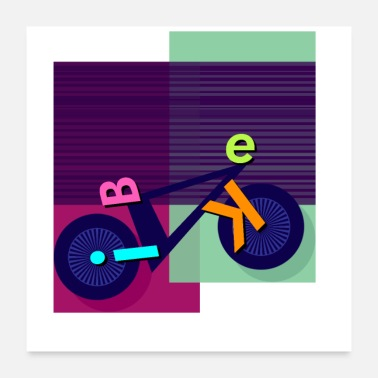 Quadrat Bike shadow - Poster