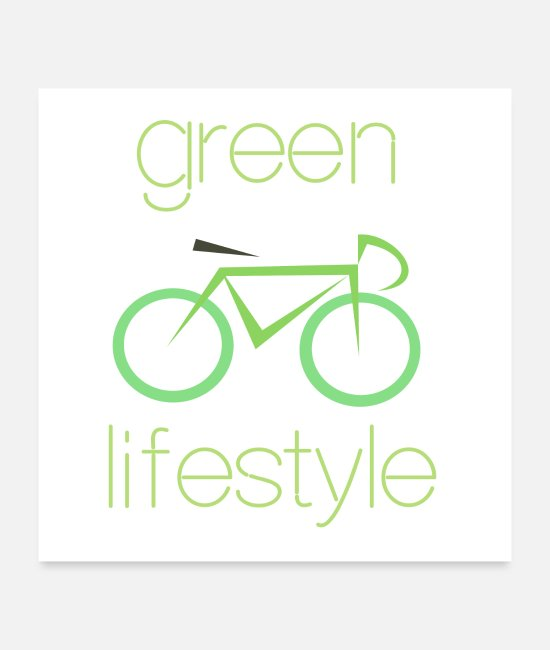 Enviromental Posters - Green lifestyle - Posters white