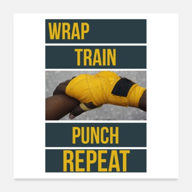 Punch Bokshandschoen Hand Wraps Art Image - Wrap Train - Poster