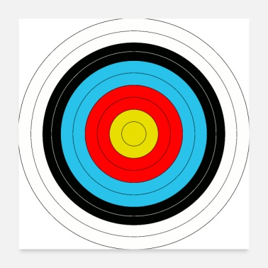 Archer Target in archery - Poster