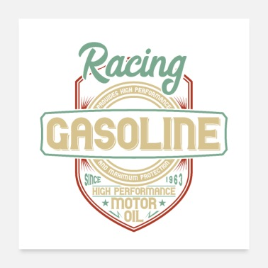 Racing Motorcycle RACING GASOLINE - Poster