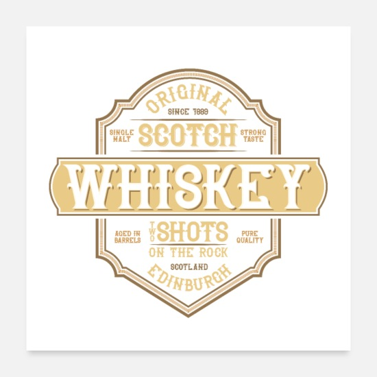 Snaps Posters - WHISKY - Posters hvid