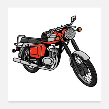 Cccp MZ TS DDR Motorcycle - Poster