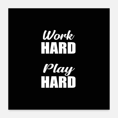 Hardware work hard play hard murial - Poster