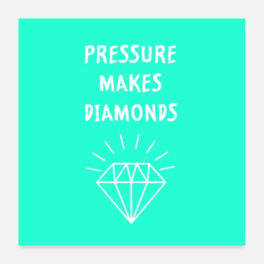 Witty pressure makes diamond murial - Poster