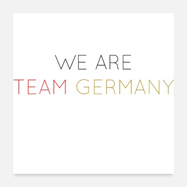 Nationalmannschaft WE ARE TEAM GERMANY - Poster