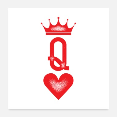 Marriage Queen Couples Tattoo Gift - Poster