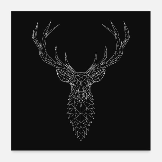 Cerfs Posters - cerf - Posters blanc