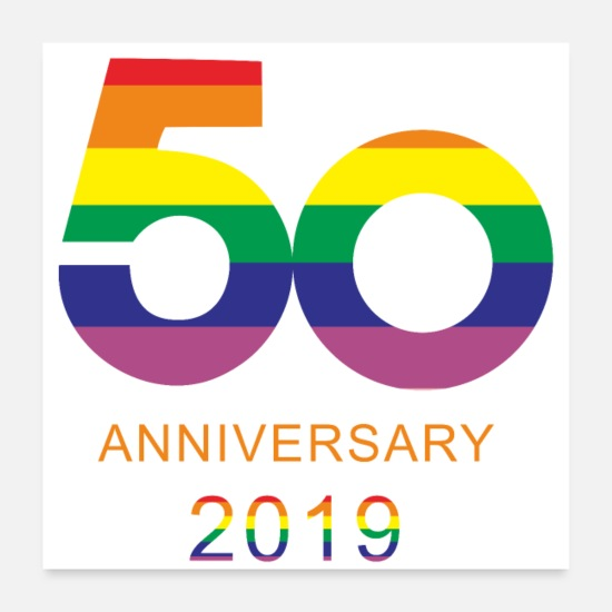 Gift Posters - Trots 2019 50 jaar liefde CSD parades celebration / LGBT / - Posters wit
