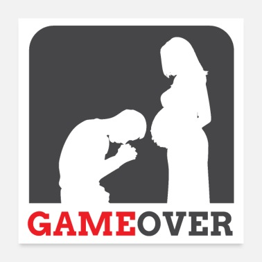Game Over Schwangerschaft = GAME OVER - Poster