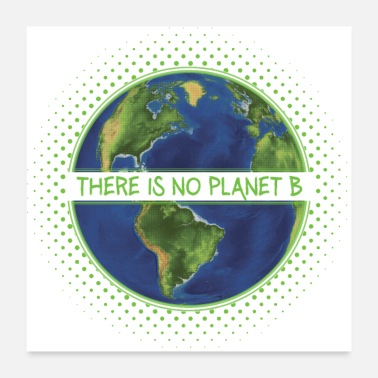 Protection There is No Planet B Climate Protection Gift - Poster