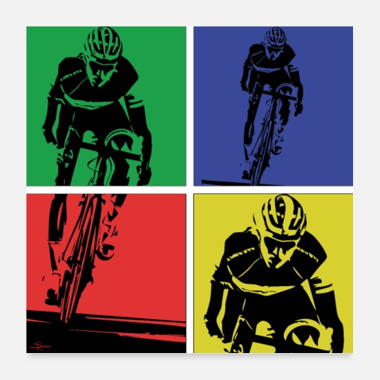 Fiets Posters - fietser - Posters wit