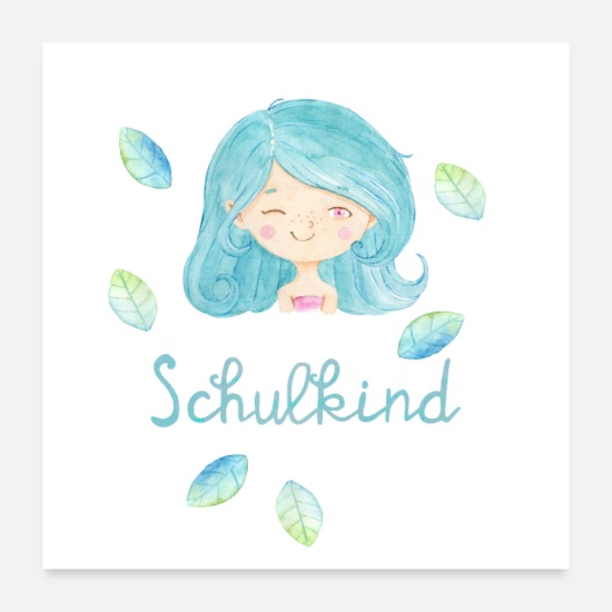 Girl Posters - Schoolchild - for girls - Posters white