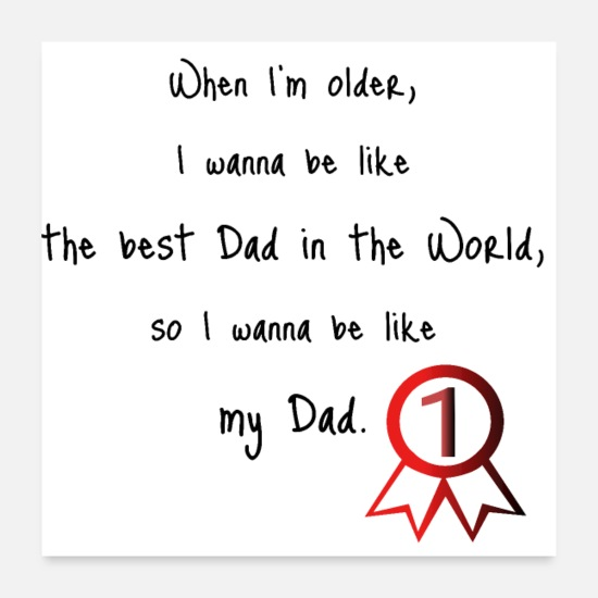 Daddy Poster - Best Dad in the World - Poster Weiß
