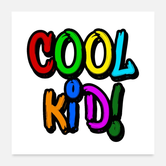 Children's Day Posters - cool kid! - Posters white