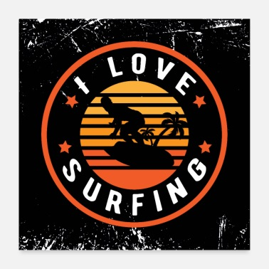 Surf surfing - Poster