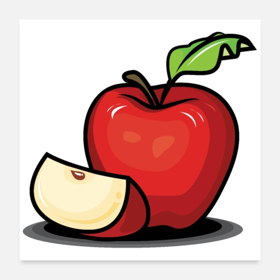 Garden Posters - Super juicy and delicious red apple - Posters white
