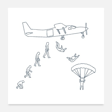 Adrenalin Junkies Skydiving Evolution II Gift - Poster