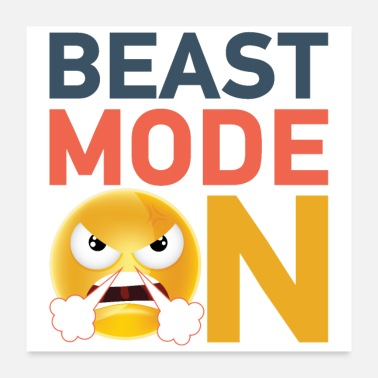 Gym Beast mode ON! Motivation for the GYM! - Poster