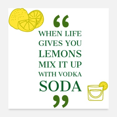 Lena Lemons - Vodka Soda - Poster