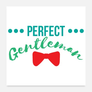 Småbarn Baby Perfect Gentleman Boy Newborn Gift - Poster