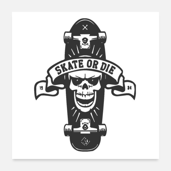 Save The World Posters - Skate or die - Posters white