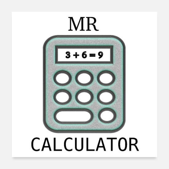 Matematiker Postrar - Mr Calculator - Postrar vit