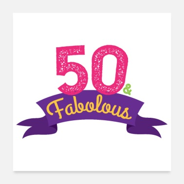 Ektemann Bursdag 50 & Fabolous 50th Birthday - Gift - Poster
