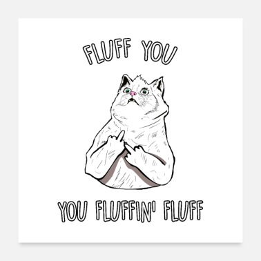 You Fluff You, You Fluffin Fluff Cat - Poster
