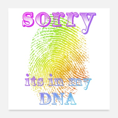 Handprint DNA fingerprint fingerprint dna geek funny - Poster