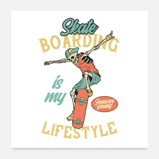 Ollie Posters - Skateboarding is my lifestyle - Posters white