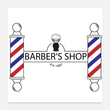 Haar Knippen The Barber's Shop - Poster
