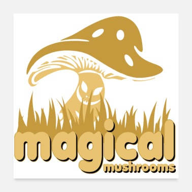 Magic Mushrooms magical mushrooms - Poster