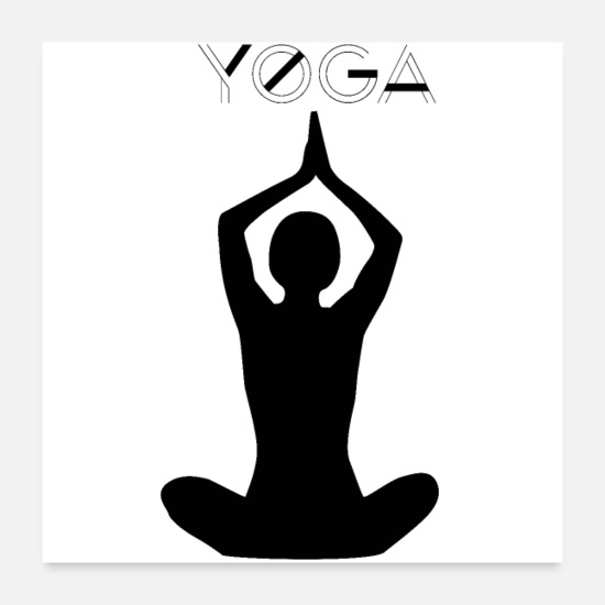 Gift Idea Posters - yoga - Posters white