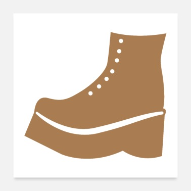 Sock Brown Boot shoe - Poster