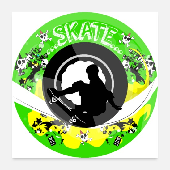 Skateboard Posters - Skate wheels Punk - Posters white