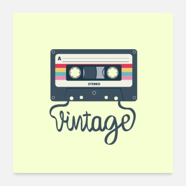 Audio Cinta de audio vintage - Póster