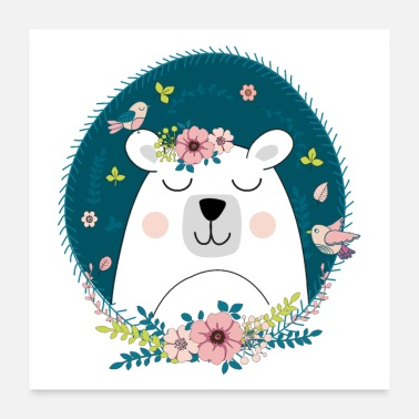 Folk Polar bear folk poster - Poster