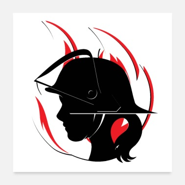 Fire Engine Fire Department - woman - Poster